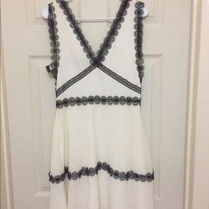 The kooples chiffon&lace midi dress WHI09 small